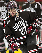 Mark Naclerio (Brown - 27) - The visiting Brown University Bears defeated the Harvard University Crimson 2-0 on Saturday, February 22, 2014 at the Bright-Landry Hockey Center in Cambridge, Massachusetts.