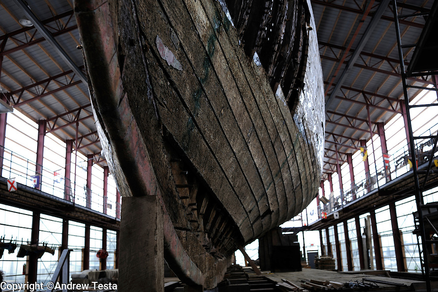USA. Newport . 15th May 2009.The Coronet at the International Yacht Restoration School in Newport. The ship was built in 1885..©Andrew Testa.