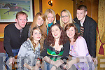 Lisa Coffey, from Abbeyfeale,, seated centre, who is leaving for new Zealand shortly, celebrated with some friends at Leen's Hotel on saturday night,  pictured front l-r are sarah Keogh, Lisa Coffey and Marina Collins.  Back l-r Eamon Sheehy, Theresa Fitzgerald, Marie Keating- Fitzgerald, Ann Marie ward and Jamie O'Sullivan..   Copyright Kerry's Eye 2008