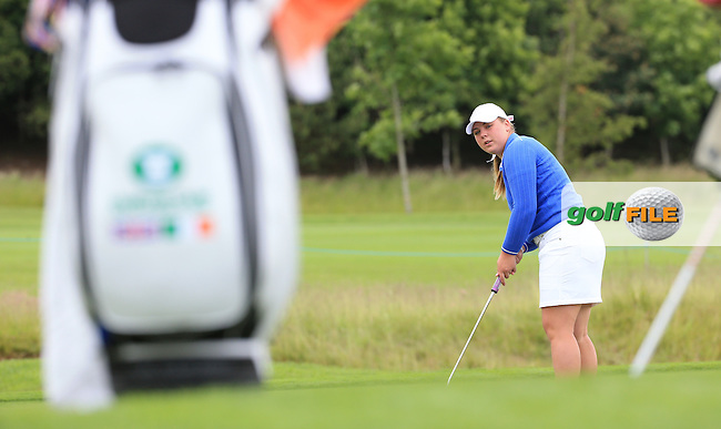 Alice Newson during the Sunday Singles at the 2016 Curtis Cup, played at Dun Laoghaire GC, Enniskerry, Co Wicklow, Ireland. 12/06/2016. Picture: David Lloyd | Golffile. <br /> <br /> All photo usage must display a mandatory copyright credit to &copy; Golffile | David Lloyd.