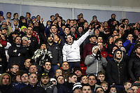 Pictured: Swansea supporters Sunday 01 February 2015<br />