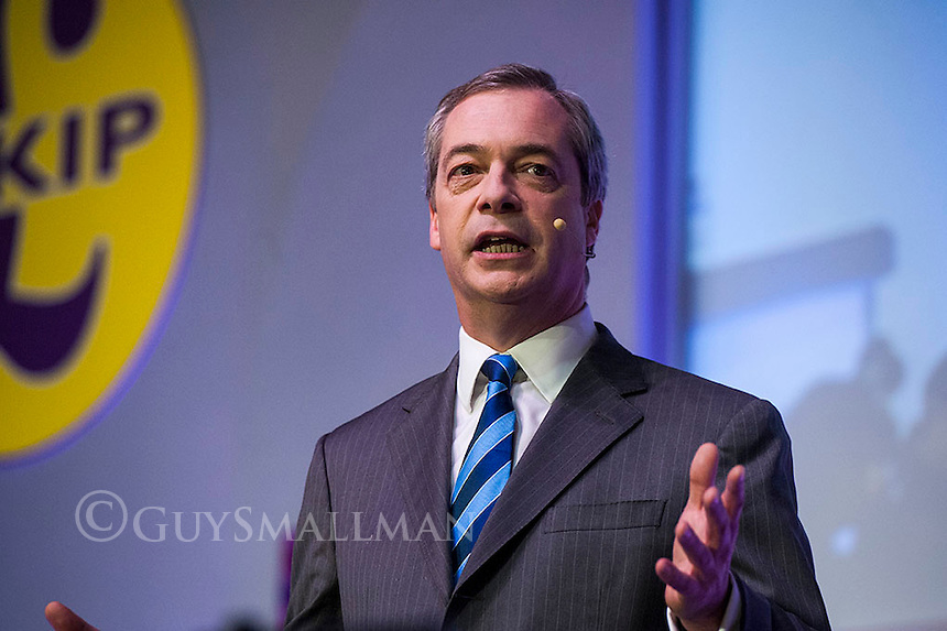 UKIP Spring Conference Margate 27-2-15Party leader Nigel Farage address the conference.