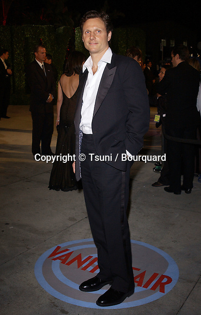 Tony Goldwin arriving at the Vanity fair Oscars Party at the Morton Restaurant in Los Angeles. February 29, 2004.