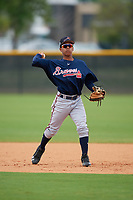 Atlanta Braves Carlos Paraguate (60) during practice before a Minor League Spring Training game against the New York Yankees on March 12, 2019 at New York Yankees Minor League Complex in Tampa, Florida.  (Mike Janes/Four Seam Images)