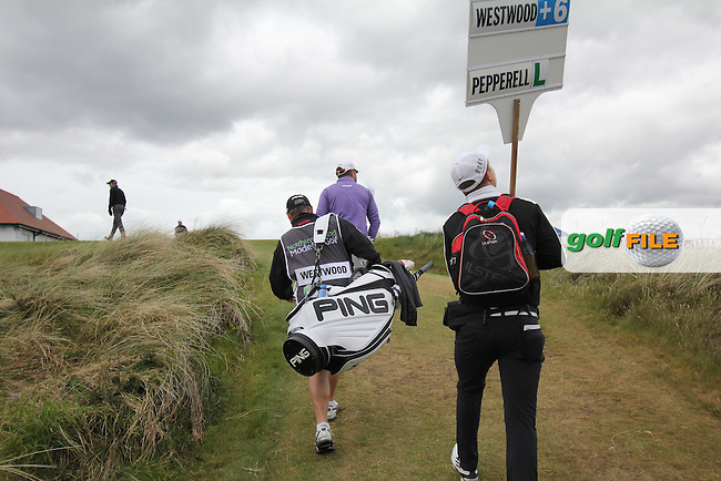 LEE WESTWOOD (ENG) walking up to the 10th tee during round 3 of the 2015 Dubai Duty Free Irish Open hosted by the Rory Foundation, Royal County Down Golf Club, Newcastle Co Down, Northern Ireland. 30/05/2015<br /> Picture TJ Caffrey, www.golffile.ie