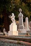 Headstones, pioneer cemetery, Jackson, Calif.