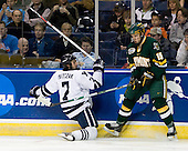Mike Matczak (Yale - 7), Kevan Miller (Vermont - 15) - The University of Vermont Catamounts defeated the Yale University Bulldogs 4-1 in their NCAA East Regional Semi-Final match on Friday, March 27, 2009, at the Bridgeport Arena at Harbor Yard in Bridgeport, Connecticut.