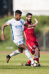 Bruno da Silva Sabino R&F F.C (L) in action against Marcos De La Espada of Kwoon Chung Southern (R) during the week three Premier League match between Kwoon Chung Southern and R&F at Aberdeen Sports Ground on September 16, 2017 in Hong Kong, China. Photo by Marcio Rodrigo Machado / Power Sport Images