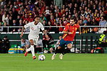 Spain's Jonny Castro and England's Raheem Sterling during UEFA Nations League 2019 match between Spain and England at Benito Villamarin stadium in Sevilla, Spain. October 15, 2018. (ALTERPHOTOS/A. Perez Meca)