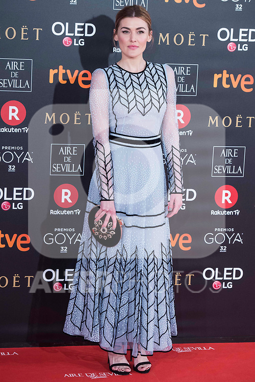 Marta Nieto attends red carpet of Goya Cinema Awards 2018 at Madrid Marriott Auditorium in Madrid , Spain. February 03, 2018. (ALTERPHOTOS/Borja B.Hojas)