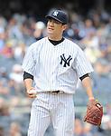 Masahiro Tanaka (Yankees),<br /> JUNE 5, 2014 - MLB :<br /> Pitcher Masahiro Tanaka of the New York Yankees during the Major League Baseball game against the Oakland Athletics at Yankee Stadium in Bronx, New York, United States. (Photo by AFLO)