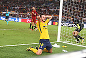 12th September 2017, Stadio Olimpic, Rome, Italy; UEFA Champions League between AS Roma versus Club Atletico de Madrid;  Saul Niguez misses a goal chance late on ; the game ended on a 0-0 draw