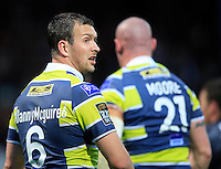 PICTURE BY CHRIS MANGNALL /SWPIX.COM...Rugby League -  Super League  - Leeds Rhinos v Hull FC - Headingley Carnegie Stadium , Leeds, England  - 06/07/12... Leeds Danny McGuire wearing a charity shirt displaying his twitter tag @DannyMcguire6