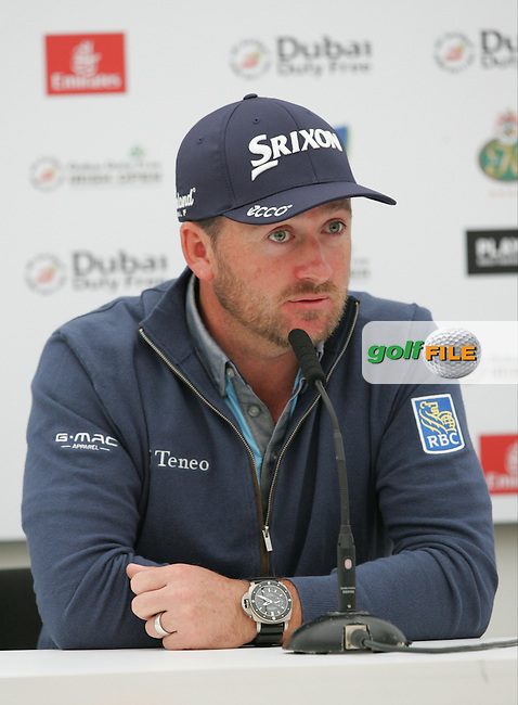 Gaeme McDowell (NIR) during a media interview ahead of the 2016 Dubai Duty Free Irish Open Hosted by The Rory Foundation which is played at the K Club Golf Resort, Straffan, Co. Kildare, Ireland. 18/05/2016. Picture Golffile | TJ Caffrey.<br /> <br /> All photo usage must display a mandatory copyright credit as: &copy; Golffile | David Lloyd.