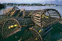 Lobster traps<br /> Bass Harbor<br /> Mount Desert Island<br /> Maine,  New England