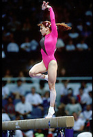 July 22, 1998; New York, NY, USA;  Artistic gymnast Yelena Produnova of Russia performs on balance beam at 1998 Goodwill Games New York. Copyright 1998 Tom Theobald