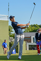 Joaquin Niemann (CHL) watches his tee shot on 10 during round 1 of the AT&T Byron Nelson, Trinity Forest Golf Club, at Dallas, Texas, USA. 5/17/2018.<br /> Picture: Golffile | Ken Murray<br /> <br /> <br /> All photo usage must carry mandatory copyright credit (© Golffile | Ken Murray)