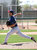 Joey Mahalic #43 of the Cleveland Indians plays in a minor league spring training game at the White Sox complex on March 24, 2011 in Glendale, Arizona. .Photo by:  Bill Mitchell/Four Seam Images.