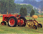 Red Farmall Tractor, Poster Print