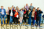New elected County Councillor Charlie Farrelly standing at the back with his supporters at the count centre in Tralee on Saturday afternoon.