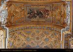Ceiling detail Right Nave Martyrdom Giacinto Brandi 1677 gilded carvings stucco work Jacopo Fancelli Cosimo Fancelli San Carlo al Corso Rome