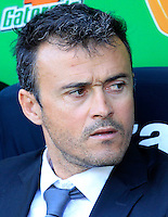 Calcio, Serie A: Roma-Fiorentina. Roma, stadio Olimpico, 25 aprile 2012. L'allenatore della Roma Luis Enrique..AS Roma coach Luis Enrique, of Spain, looks on during the Italian Serie A football match between AS Roma and Fiorentina, at Rome, Olympic stadium, 25 april 2012..UPDATE IMAGES PRESS/Riccardo De Luca