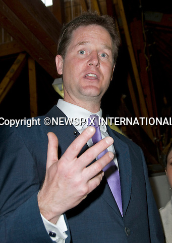 """NICK CLEGG.on the election campaign, Brixton, South London_03/05/2010.Mandatory Credit Photo: ©DIAS-NEWSPIX INTERNATIONAL..**ALL FEES PAYABLE TO: """"NEWSPIX INTERNATIONAL""""**..IMMEDIATE CONFIRMATION OF USAGE REQUIRED:.Newspix International, 31 Chinnery Hill, Bishop's Stortford, ENGLAND CM23 3PS.Tel:+441279 324672  ; Fax: +441279656877.Mobile:  07775681153.e-mail: info@newspixinternational.co.uk"""