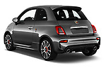 Car pictures of rear three quarter view of a 2018 Abarth 595 Turismo 3 Door Hatchback angular rear