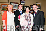 Baby Emily Rose Leahy with her parents Billy Leahy & Mary Anne McElligott, Listowel and god parents Michelle Mulvihill & Daniel Leahy whos was christened in Duagh Church by Fr. Tom McMahon on Sunday last and afterwards at the Kingdom Bar, Listowel.