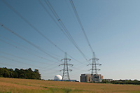 "Sizewell ""A"" (the block) and ""B"" (the sphere) Nuclear Power Station, Suffolk coast, UK."
