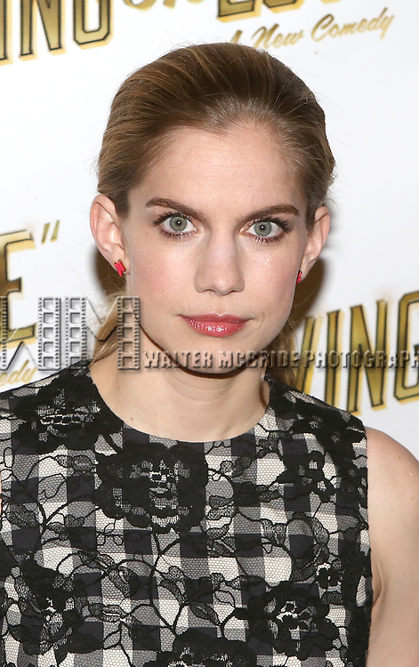 Anna Chlumsky attends the 'Living on Love' photo call at the Empire Hotel on March 12, 2015 in New York City.