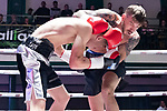 Ricky Heavens vs Jack Green 4x3 - Super Welterweight Contest During Goodwin Boxing - Date With Destiny. Photo by: Simon Downing.<br /> <br /> Saturday September 23rd 2017 - York Hall, Bethnal Green, London, United Kingdom.