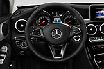 Car pictures of steering wheel view of a 2017 Mercedes Benz C Class C350e 4 Door Sedan