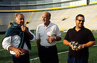 Jerry Kramer, Max McGee and Ted Demme during the Lombardi Legends reunion at Lambeau Field  in September of 2001. Demme who was working on a feature-length film about Lombardi's Packers, died four months later. McGee died in 2007.