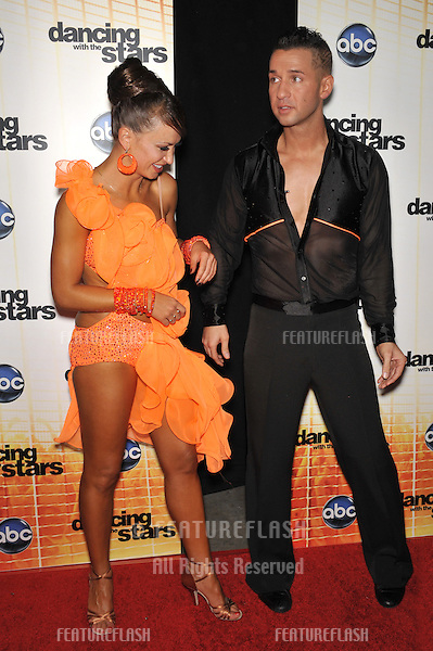 "Mike ""The Situation"" Sorrentino & Karina Smirnoff at the Season 11 premiere of ABC's Dancing With The Stars at CBS Television City, Los Angeles..September 20, 2010  Los Angeles, CA.Picture: Paul Smith / Featureflash"