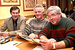 Des McGinty, Benny Markey and Noel Smyth from the O'Raghallaighs at the Louth GAA convention in the Fairways Hotel..Picture Paul Mohan Newsfile