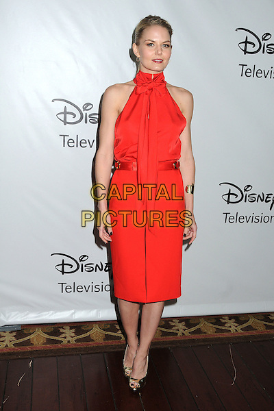 ennifer Morrison.Disney ABC 2012 TCA Winter Press Tour held at the Langham Huntington Hotel, Pasadena, California, USA..January 10th, 2012.full length red dress sleeveless high collar.CAP/ADM/BP.©Byron Purvis/AdMedia/Capital Pictures.