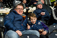 HULL, ENGLAND - JANUARY 07:Swansea City fans  during the Emirates FA Cup Third Round match between Hull City v Swansea City at KCOM Stadium, Hull, England, UK. Saturday 07 January 2017