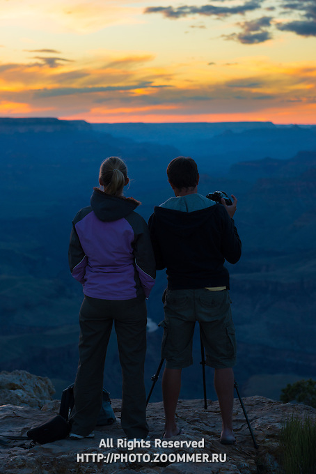 Photographers At Grand Canyon, Arizona