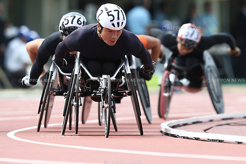 Masayuki Higuchi,<br /> MAY 1, 2016 - Athletics :<br /> Japan Para Athletics Championships<br /> Men's 800m T54 Final<br /> at Coca Cola West Sports Park, Tottori, Japan.<br /> (Photo by Shingo Ito/AFLO SPORT)