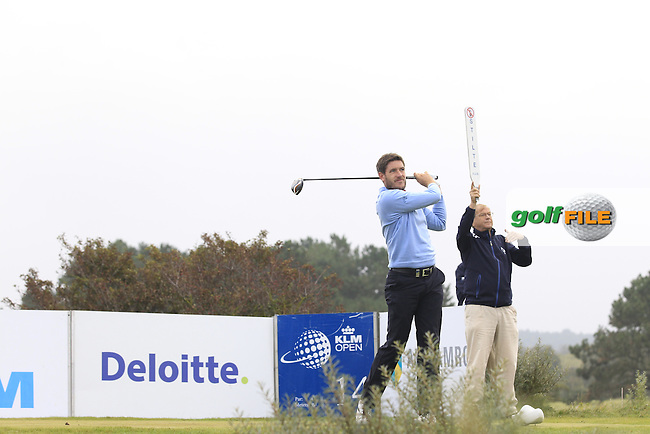 Adam Gee (ENG) on the 14th tee during Round 4 of the KLM Open at Kennemer Golf &amp; Country Club on Sunday 14th September 2014.<br /> Picture:  Thos Caffrey / www.golffile.ie