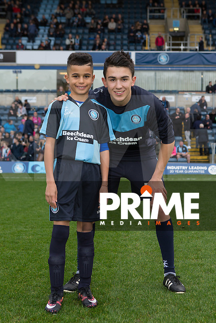 Match day Mascot during the Sky Bet League 2 match between Wycombe Wanderers and Oxford United at Adams Park, High Wycombe, England on 19 December 2015. Photo by Andy Rowland.
