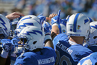 October 22, 2016 - Colorado Springs, Colorado, U.S. -   Air Force Falcons prior to the NCAA Football game between the University of Hawaii Rainbow Warriors and the Air Force Academy Falcons, Falcon Stadium, U.S. Air Force Academy, Colorado Springs, Colorado.  Hawaii defeats Air Force in double overtime 43-27.