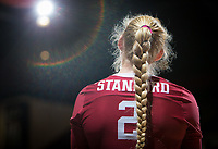 STANFORD, CA - November 2, 2018: Kathryn Plummer at Maples Pavilion. No. 1 Stanford Cardinal defeated No. 15 Colorado Buffaloes 3-2.