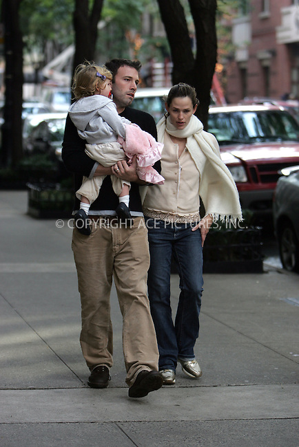 WWW.ACEPIXS.COM . . . . . ....November 1 2007, New York City....***EXCLUSIVE TO ACE PICTURES - PLEASE PHONE BEFORE USE***....On the day her new production of 'Cyrano de Bergerac' opens on Broadway, Jennifer Garner was out shopping on the Upper West Side of Manhattan with Ben Alleck and Violet Affleck.....Please byline: DAVID MURPHY - ACEPIXS.COM.. . . . . . ..Ace Pictures, Inc:  ..(646) 769 0430..e-mail: info@acepixs.com..web: http://www.acepixs.com