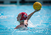 STANFORD, CA - March 23, 2019: Sarah Klass at Avery Aquatic Center. The #2 Stanford Cardinal took down the #18 Harvard Crimson 20-7.