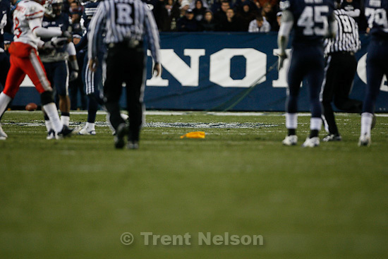 Trent Nelson  |  The Salt Lake Tribune.during the first half,  BYU vs. New Mexico, Saturday, November 20, 2010. no sign