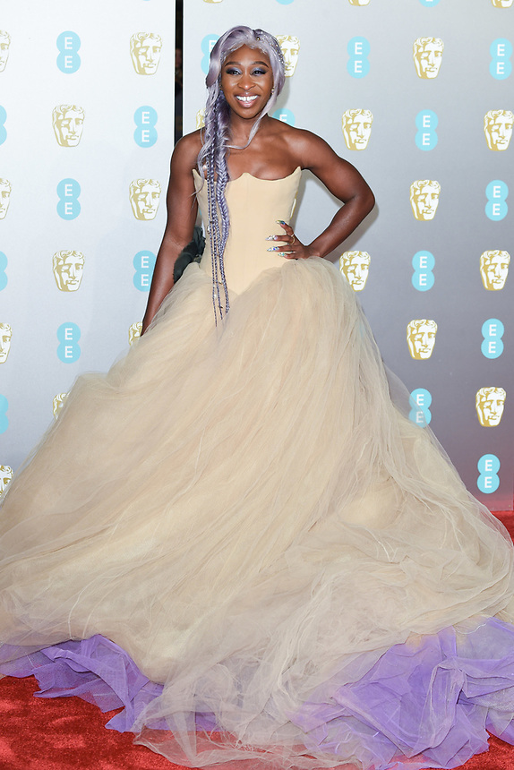 Cynthia Erivo<br /> arriving for the BAFTA Film Awards 2019 at the Royal Albert Hall, London<br /> <br /> ©Ash Knotek  D3478  10/02/2019