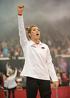 NWA Democrat-Gazette/ANDY SHUPE<br /> Arkansas' competes Friday, Jan. 12, 2018, in the portion of the 11th-ranked Razorbacks' meet with sixth-ranked Kentucky in Barnhill Arena in Fayetteville. Visit nwadg.com/photos to see more photographs from the meet.
