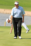 Colin Montgomerie under pressure coming off the 13th on day two of the Celtic Manor wales Open 2010.Picture Fran Caffrey/Newsfile.ie